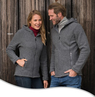 Organic Thick Wool Fleece Hooded Women's Jacket