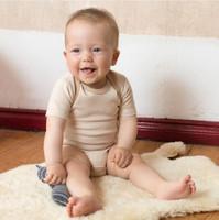 Short Sleeve Bodysuit  Color: 501 hazelnut-striped