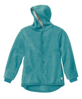 Disana Organic Boiled Wool Jacket Color: Lagoon