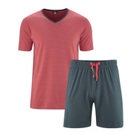 Men's Pyjamas Color: 750 asphalt/cayenne