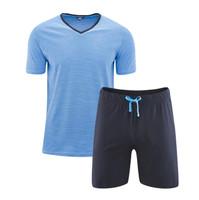 Men's Pyjamas Color: 589 navy/azur