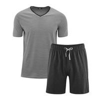 Men's Pyjamas Color: 640 stone grey/anthra melange