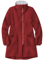 Disana Organic Boiled Wool Women's Coat Color: Bordeaux