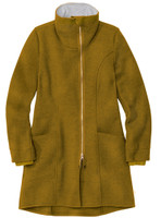 Disana Organic Boiled Wool Women's Coat Disana Organic Boiled Wool Women's Coat Color: Gold