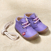 "Natural Leather Children's Shoes - ""JUAN"" Color: Lilac"