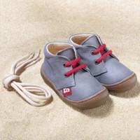 "Natural Leather Children's Shoes - ""JUAN"" Color: Graphit"