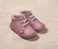 """Natural Leather Children's Shoes - """"JUAN"""" Color: 512 Malve"""
