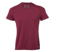 Organic Wool/ Silk Men's Short Sleeved Top Regular fit Color: Tango Red