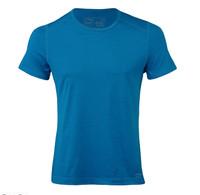 Organic Wool/ Silk Men's Short Sleeved Top Regular fit Color: Sky