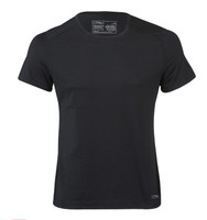 Organic Wool/ Silk Men's Short Sleeved Top Regular fit Color: Black