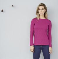 Women's Organic Cotton Long Sleeved Shirt Color: 794 winter pink