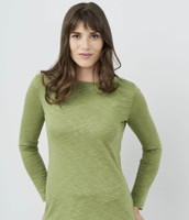 Women's Organic Cotton Long Sleeved Shirt Color: 279 avocado