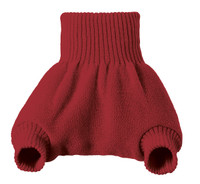 Organic Merino Wool Diaper Cover Color:  Bordeaux