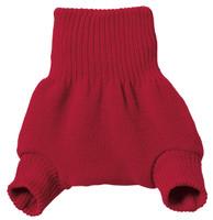 Organic Merino Wool Diaper Cover Color: Red