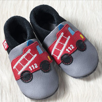 Natural Leather Children's Slippers