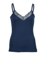Ladies' top with lace