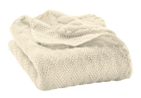 Organic Wool Knitted Blanket Color: Natural