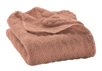 Organic Wool Knitted Blanket Color: Rose