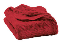 Organic Wool Knitted Blanket Color: Bordeaux