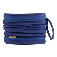 Organic Merino Wool Silk Neck Warmer Color: 304 blue print
