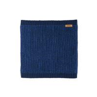 Organic Merino Wool Silk Neck Warmer  Color: 30 navy-blue