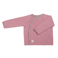 Organic Merino Wool Silk Baby Jacket Color: 112 cashmere rose