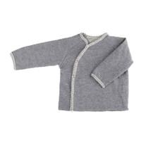 Organic Merino Wool Silk Baby Jacket Color: 95 grey