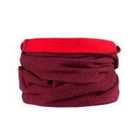 Organic Merino Wool cashmere loop scarf Color:  181 biking red