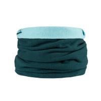 Organic Merino Wool cashmere loop scarf Color:  481 green
