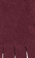Organic Merino Wool Ladies Gloves Color: 18 wine red