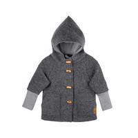 Organic Merino Wool Fleece Kids Jacket Color:  96 slate grey
