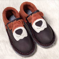 Natural Leather Indoor Slippers