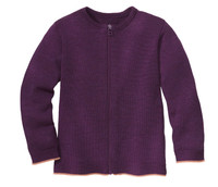 Disana Organic Wool Lightweight Cardigan Jacket Color: 693 Plum