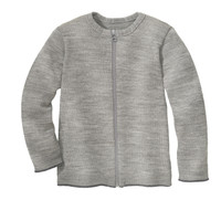 Disana Organic Wool Lightweight Cardigan Jacket Color: 121 Grey