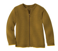 Disana Organic Wool Lightweight Cardigan Jacket Color: 458 Gold