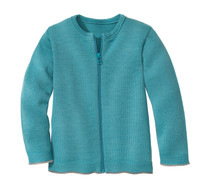 Disana Organic Wool Lightweight Cardigan Jacket Color: 219 Lagoon
