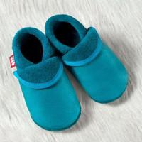 "Handmade Natural Leather Indoor Slippers - ""Classic waikiki"""