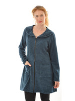 Women Silk Wool Mantel Dress