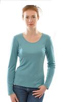 Women 100% Organic Silk Long Sleeved Shirt