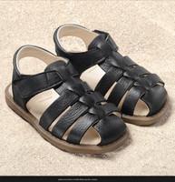 "Natural Leather Sandals | Pololo ""Fiesta Grande"" Color: Black"