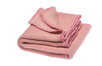 Disana Organic Wool Summer Blanket Color: 913 natural-raspberry yoghurt