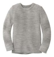 Disana Organic Wool Left-knit Jumper  Color: Grey