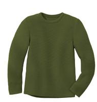 Disana Organic Wool Left-knit Jumper  Color: 581 Olive