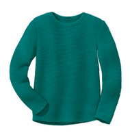 Disana Organic Wool Left-knit Jumper  Color: 281 Pacific