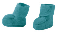 Disana Boiled Wool Booties Color: Lagoon
