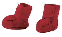 Disana Boiled Wool Booties Color: Bordeaux