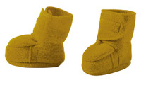 Disana Boiled Wool Booties Color: Gold