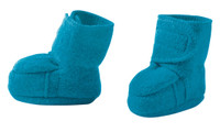 Disana Boiled Wool Booties Color: Blue