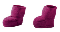 Disana Boiled Wool Booties Color: Berry