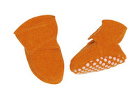 Disana Boiled Wool Booties Color: Orange